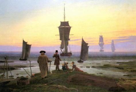 """Empat Masa Usia"" - lukisan cat minyak pelukis realis-romantis Caspar David Friedriech"